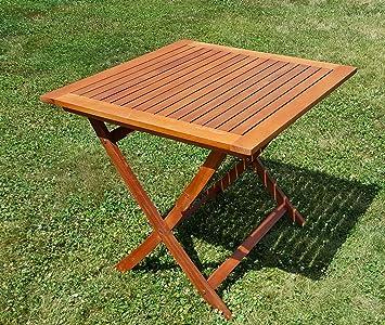 Amazon De Klappbarer Gartentisch Holztisch Klapptisch Tisch 80x80