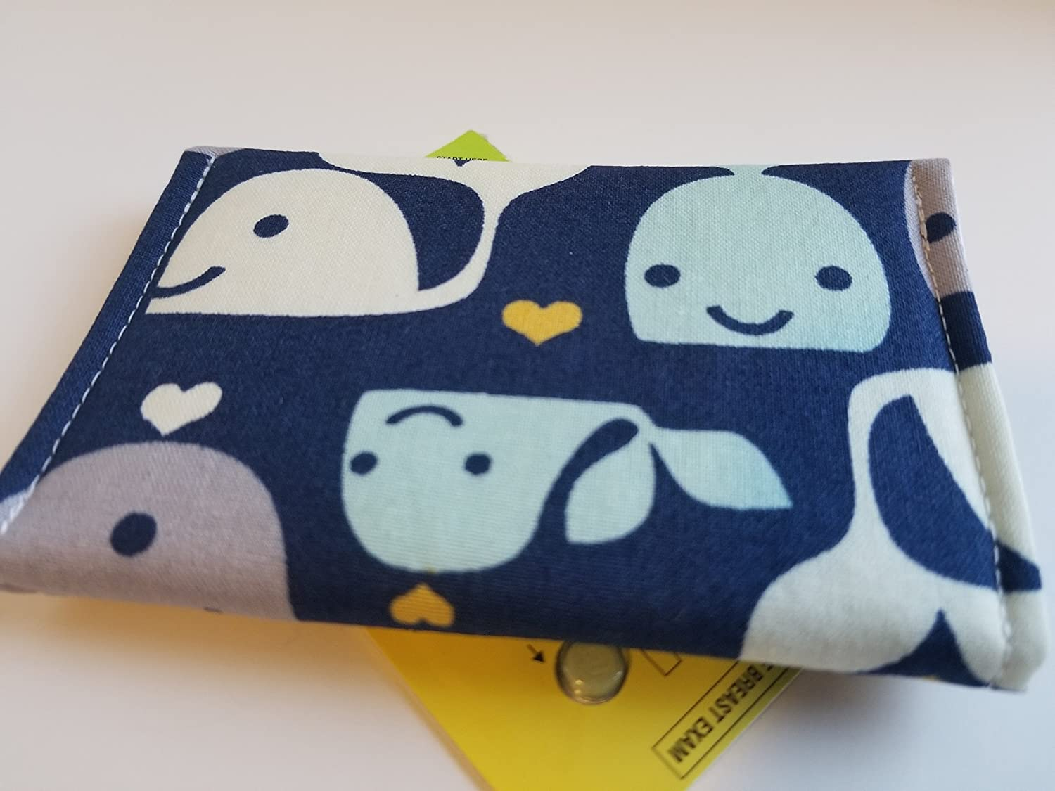 Adorable whales Birth Control Case Sleeve with Snap Closure