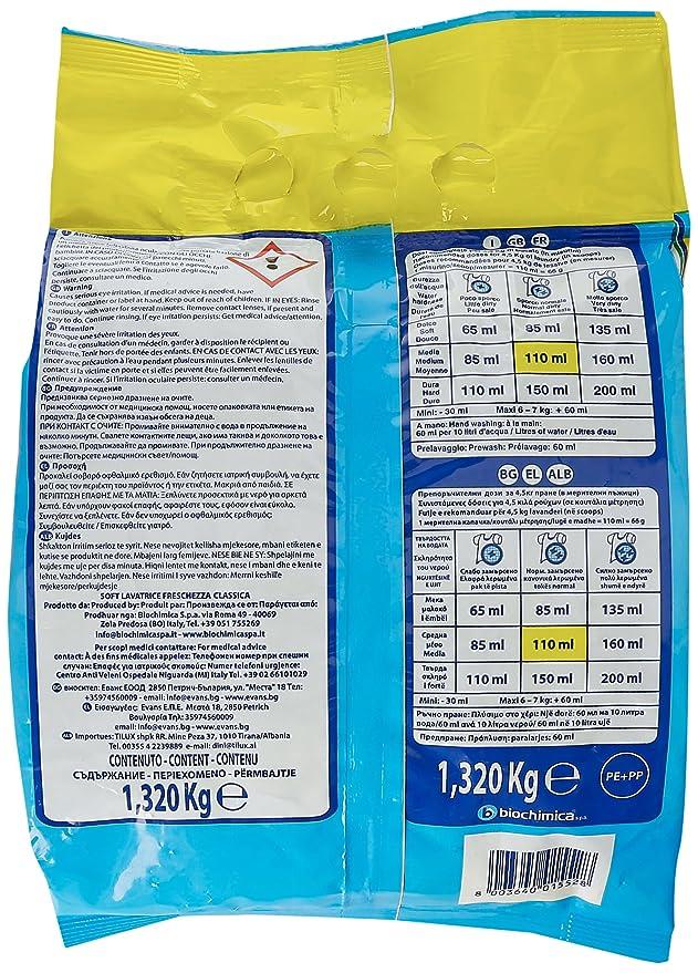 Soft, Detergente Lavadora hermético Classic, 18 + 2 cucharas ...