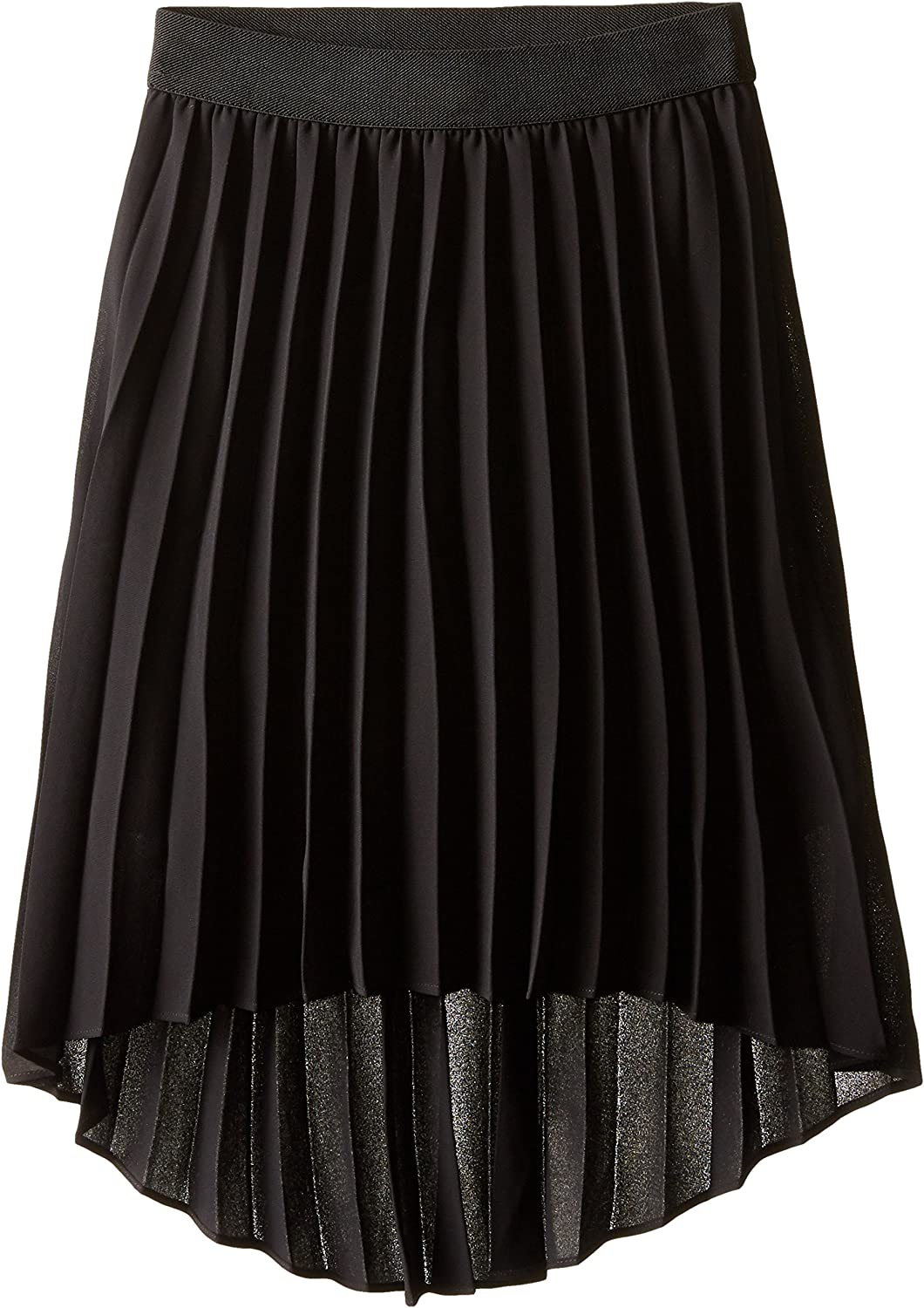 Amy Byer Girls' Picture Perfect High-Low Pleated Chiffon Skirt: Clothing