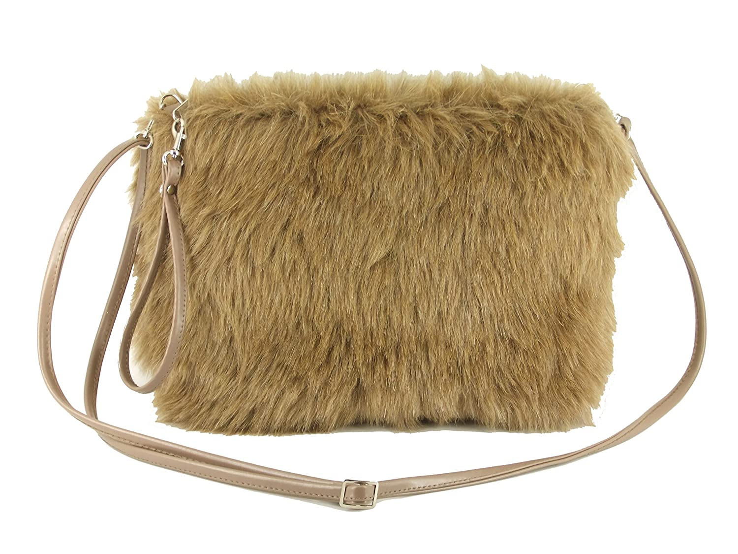 LONI Women's Synthetic Fur Shoulder Crossbody Bag