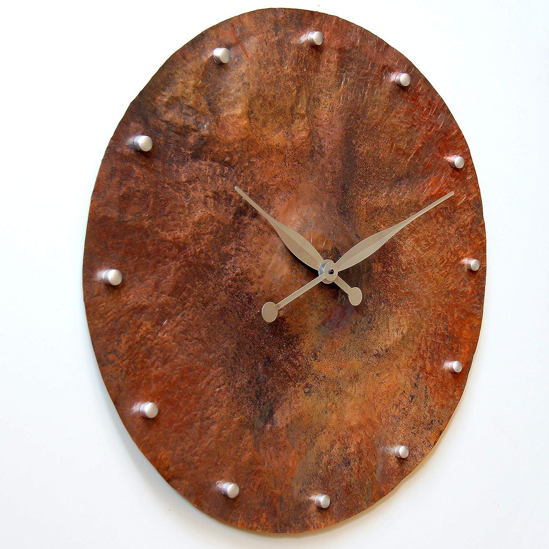 24-inch Copper Wall Clock Rustic Art Decor Anniversary Gift Silent Non Ticking