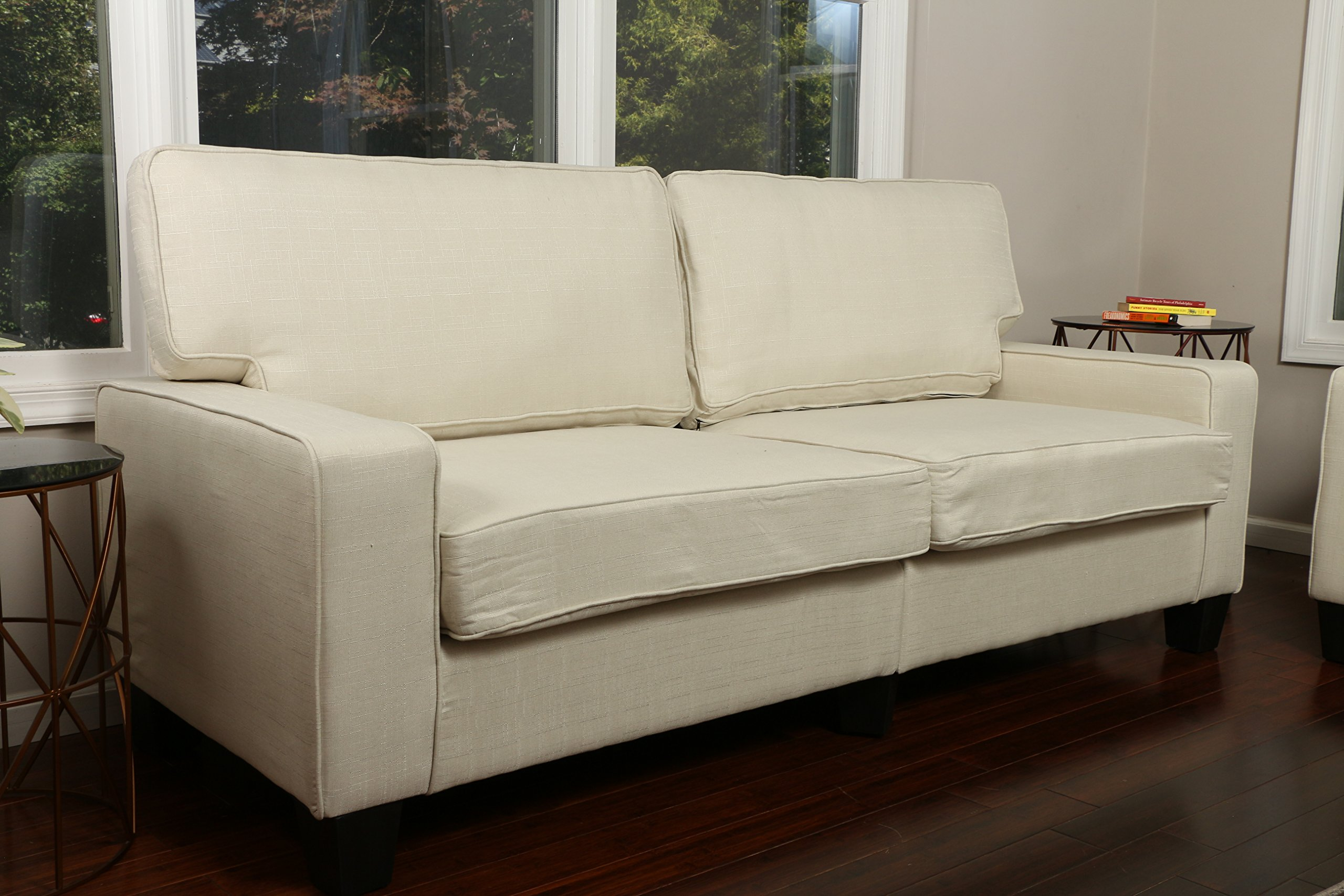 Home Life 2-3 Person Apartment Size Contemporary Pocket Coil Hardwood Sofa 281 73'' Wide - Light Beige by LIFE Home