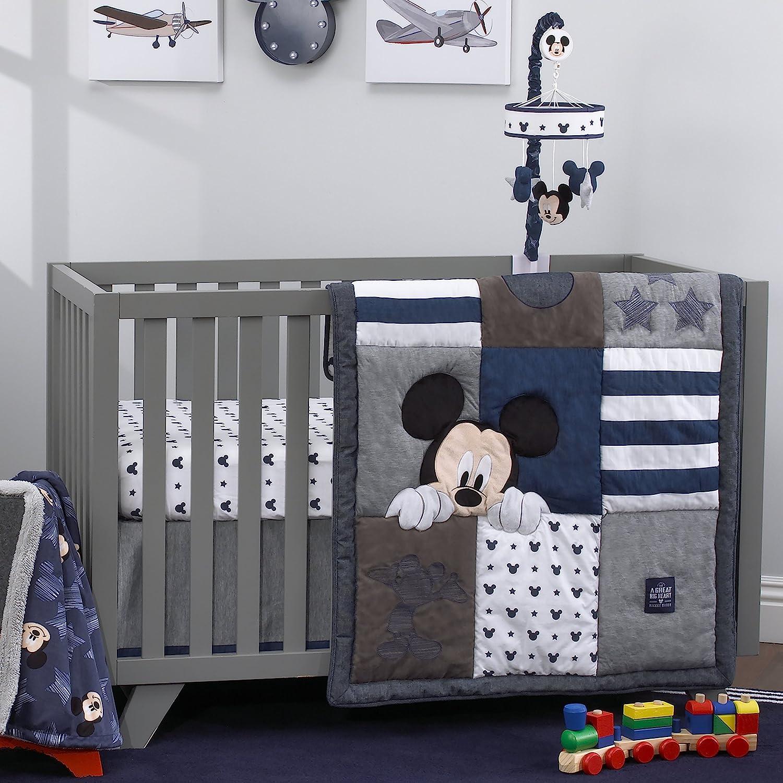 Disney Baby Mickey Mouse Hello World 4 Piezas Cuna Juego de Cama ...