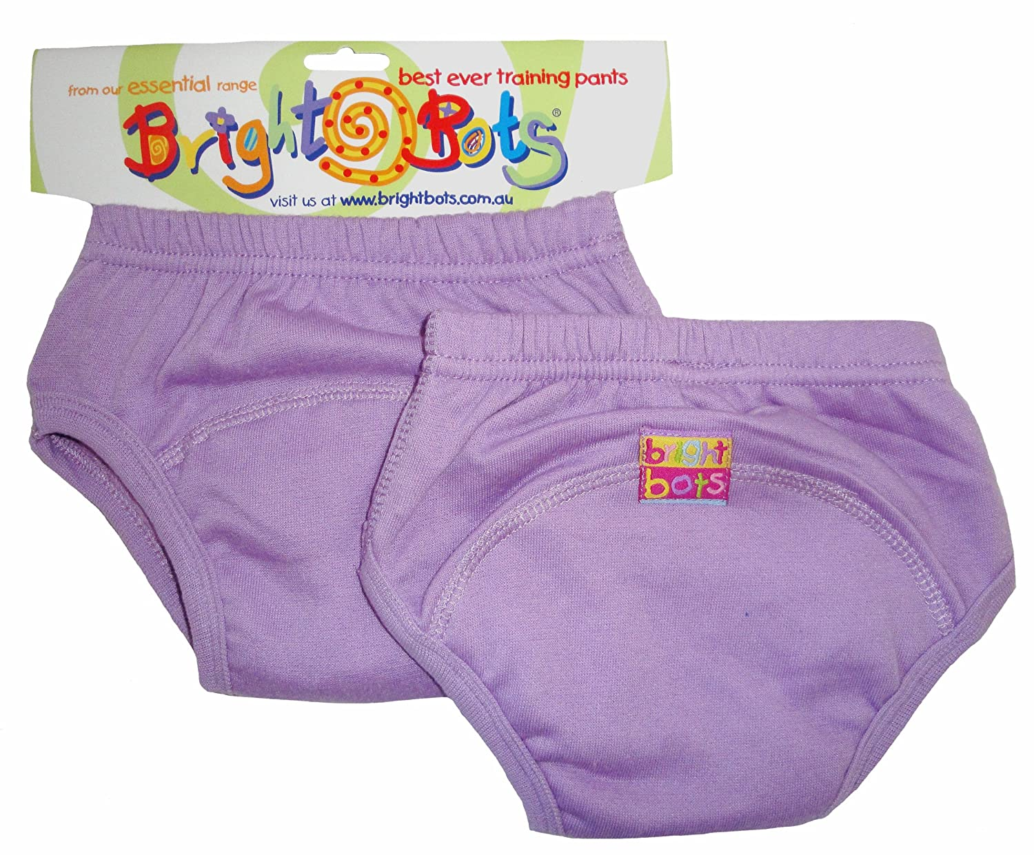 Bright Bots Potty Training Pants (Twin Pack, Mauve, Medium, 18 - 24 months) 2PSETRA1-2LM