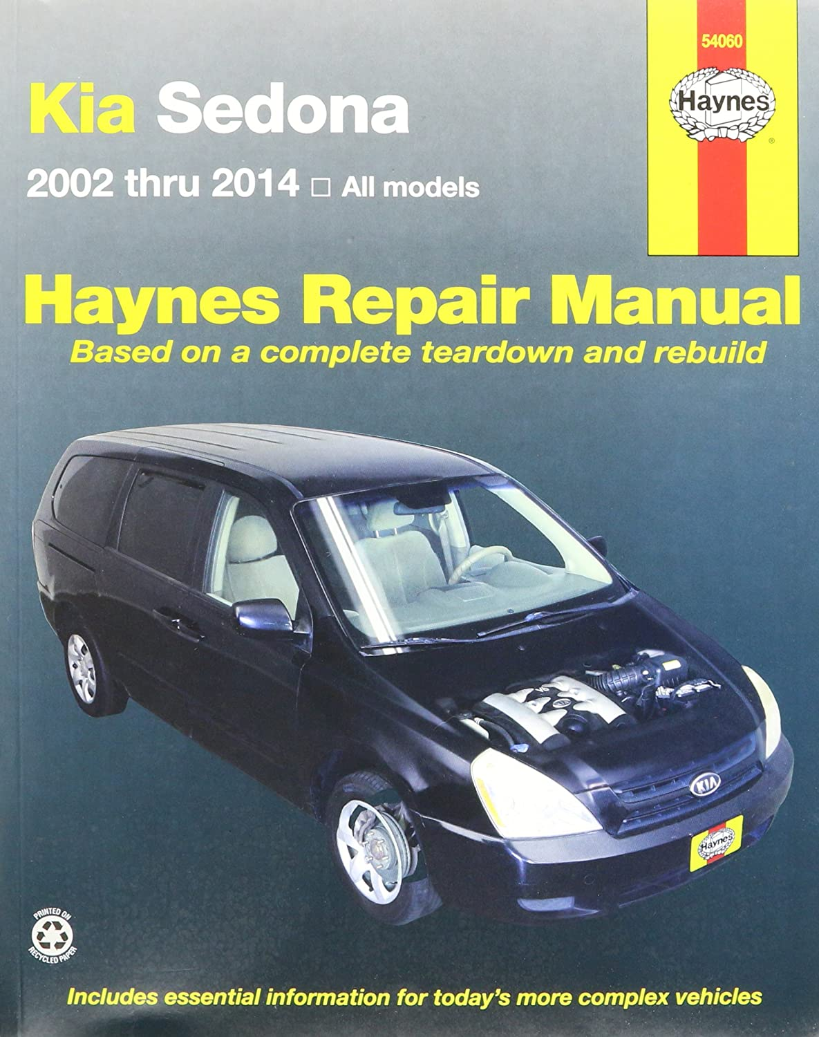Amazon.com: Haynes Repair Manuals Kia Sedona, '02-'14 (54060): Automotive