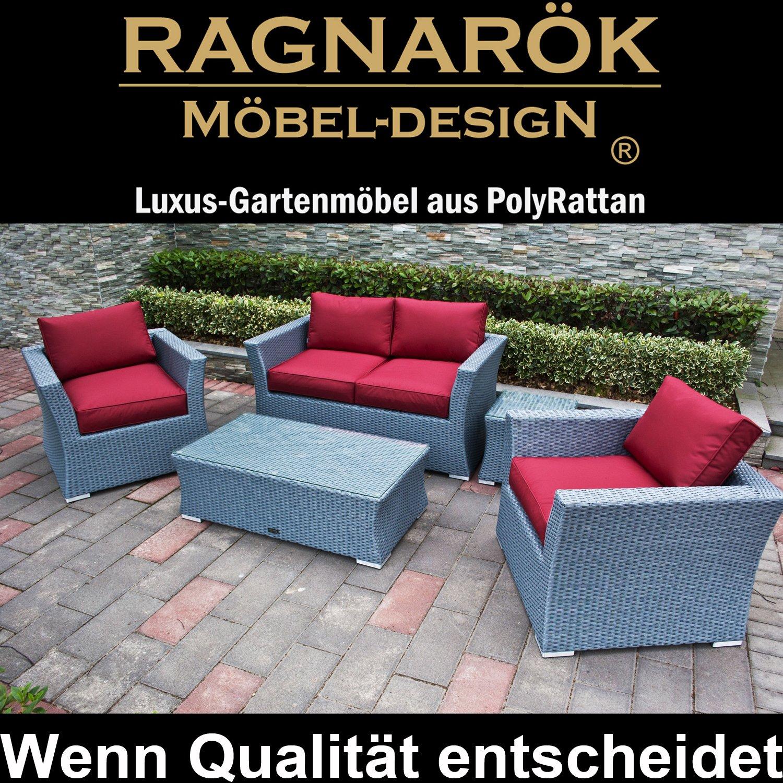 Details Zu PolyRattan Lounge DEUTSCHE MARKE U2014 EIGNENE PRODUKTION 8 Jahre  GARANTIE Auf UV Beständigkeit Garten Möbel Incl.