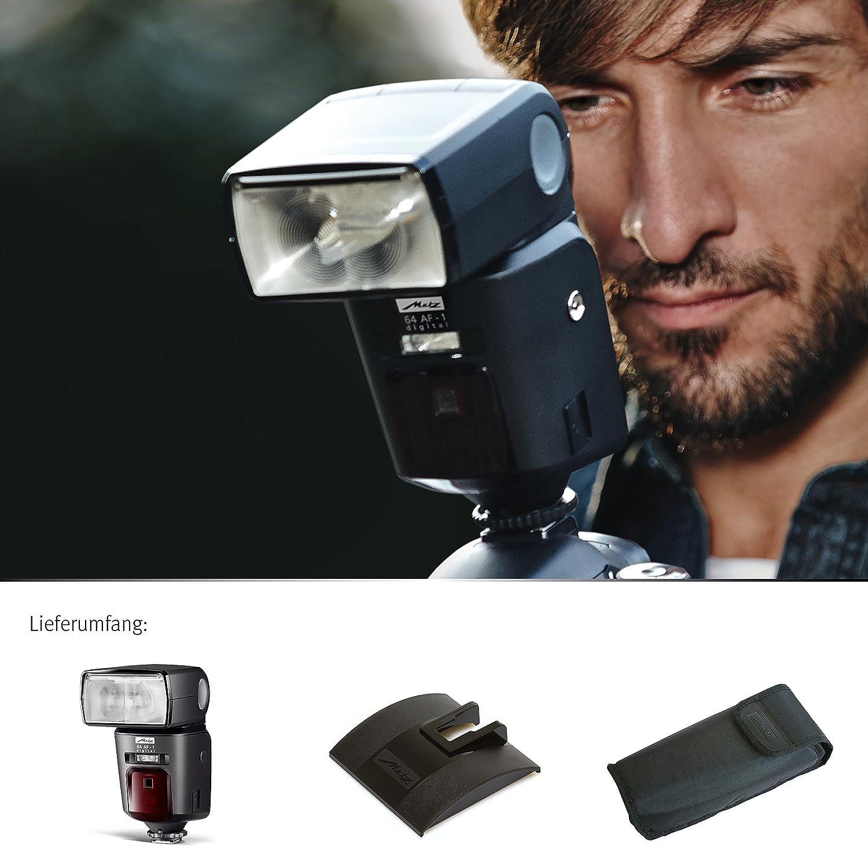 HSS | High End Blitzger/ät mit TTL Leitzahl 64 Touch-Display etc. Metz mecablitz 64 AF-1 f/ür Nikon Kameras DSLR und CSC Zweitreflektor High Speed Sync