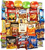 OxBox Care Package of Ultimate Sampler Mixed Bars, Cookies, Chips, Candy Snacks for Office, Meetings, Schools, Friends & Family, Military, College, Fun Variety Pack (45 Count)