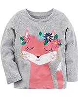 Carter's Girls' 2T-4T Long Sleeve Flower Fox Tee