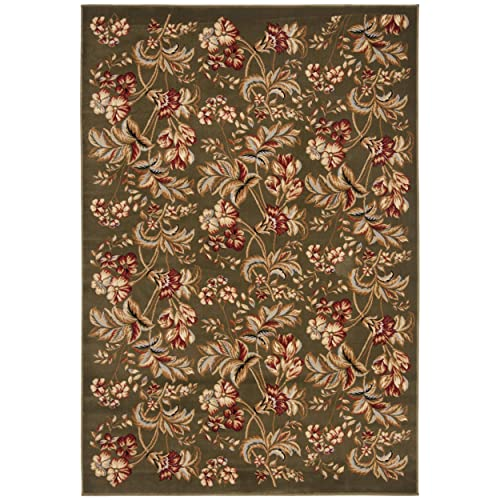 Safavieh Lyndhurst Collection LNH326B Traditional Floral Sage Area Rug 4 x 6