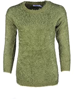 Girls Cable Knit Sweater Triple Shoulder Button Roll Edges Knitted Jumper 3-15yr
