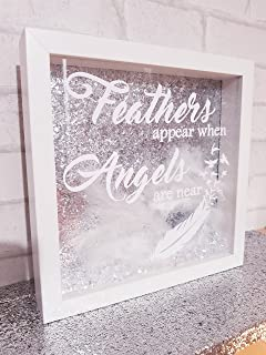 Beautiful Feathers Appear When Angels Are Near White Framed White