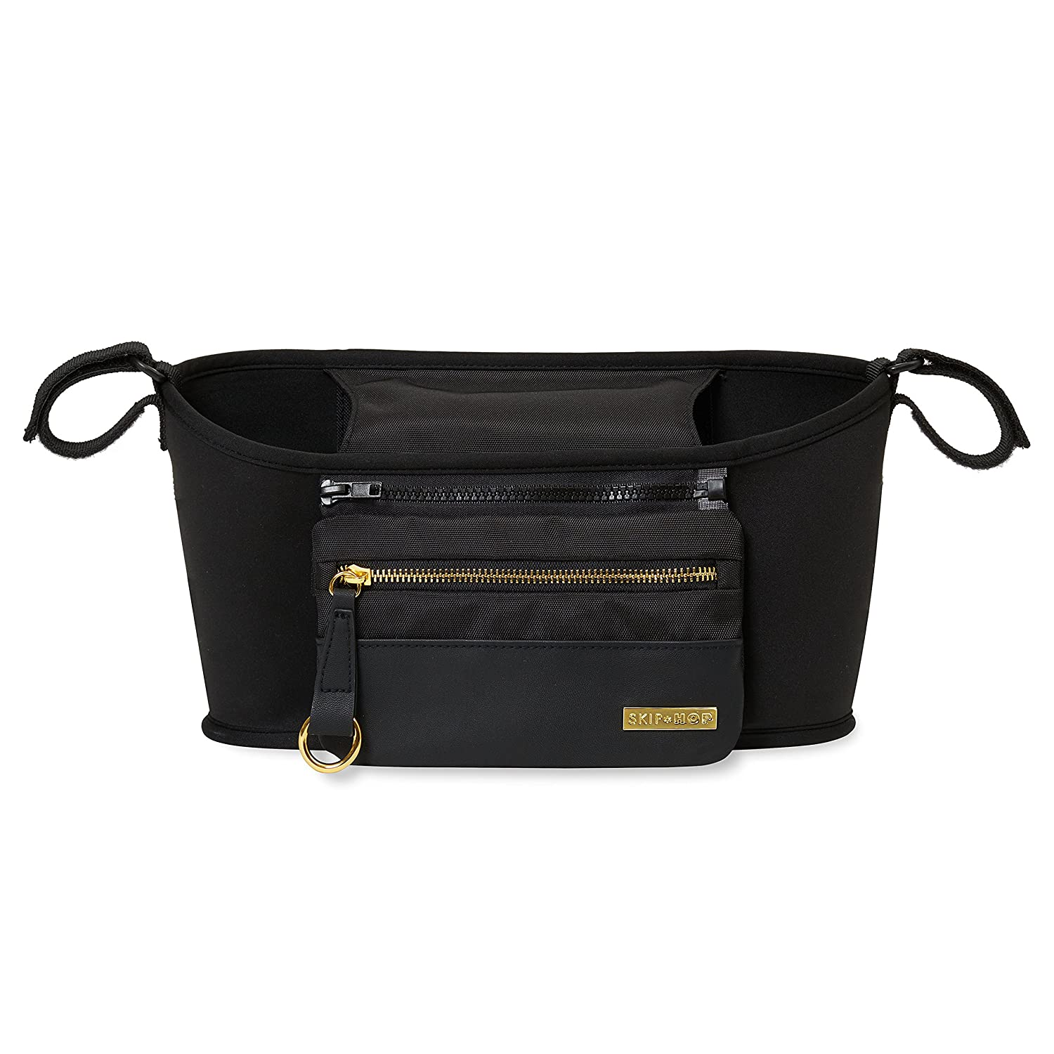 Skip Hop Stroller Organizer with Cup Holders, Grab & Go, Luxe Black 400600