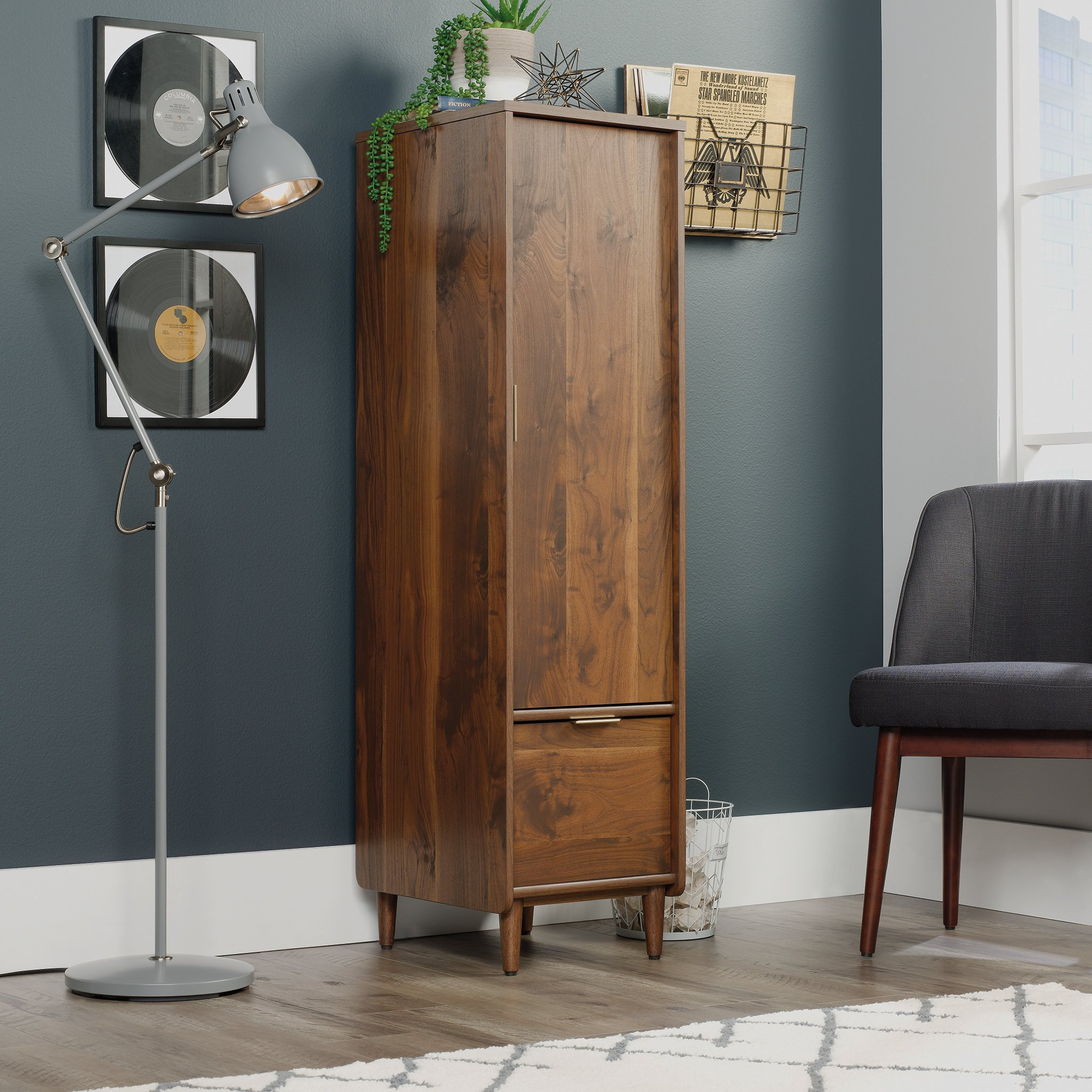 Sauder 421318 Clifford Place Storage Cabinet with File, L: 15.51'' x W: 18.50'' x H: 58.27'', Grand Walnut Finish by Sauder (Image #2)