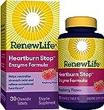 Renew Life Heartburn Stop Enzyme Formula, Raspberry, 30 Chewable Tablets
