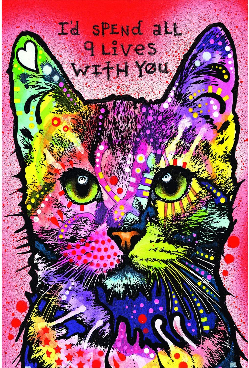 Hartop Jigsaw Puzzles 1000 Pieces for Adults, Wooden Jigsaw Puzzles Colorful Cat, Entertainment DIY Toys for Creative Gift Decor