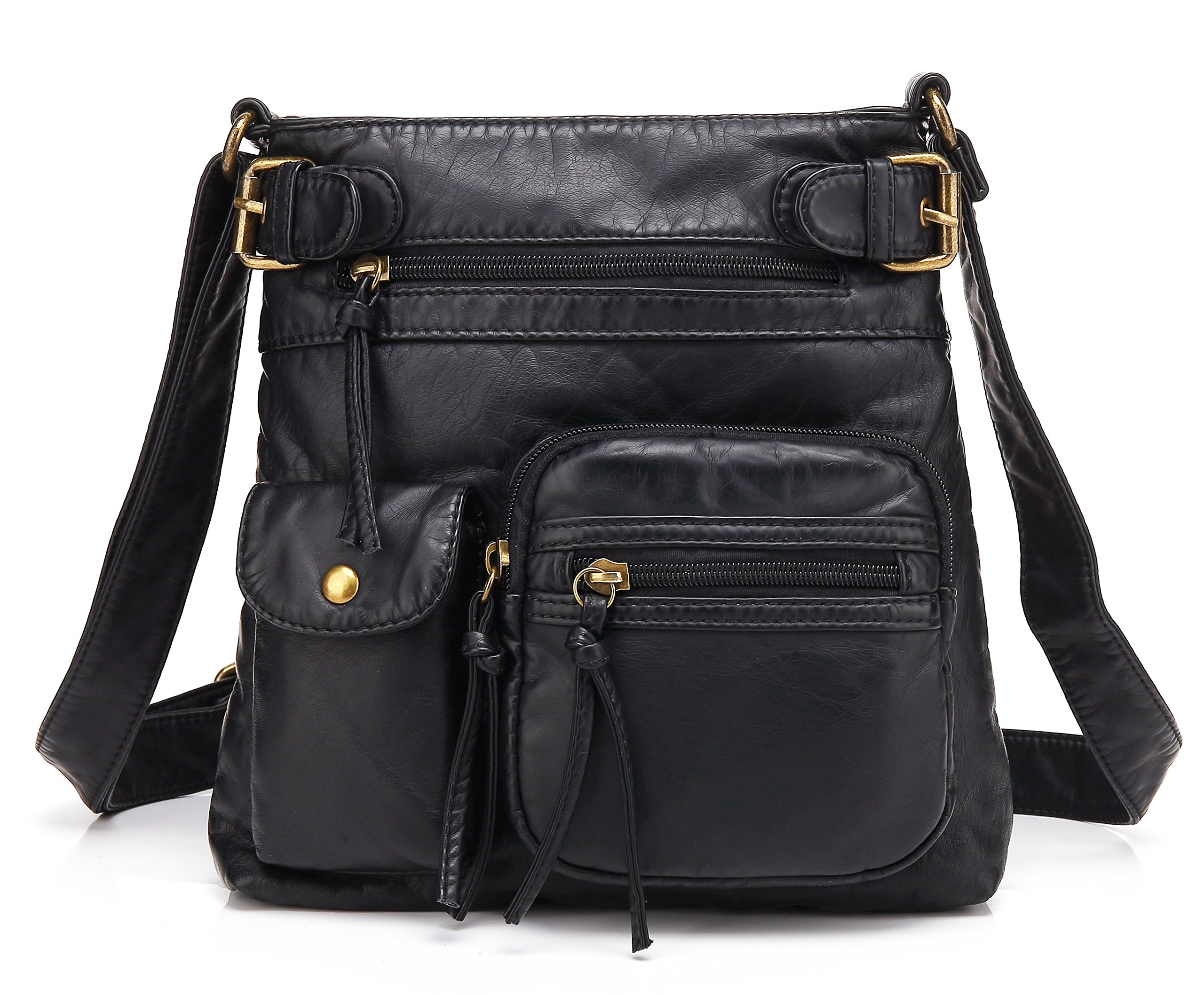Scarleton Accent Top Belt Crossbody Bag H183301 - Black