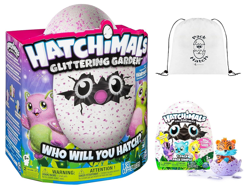 hatchimals Glittering Garden Burtle & colleggtibles Blindバッグ( Season 1 ) & pack-a-hatch Cinchバックパックコンボ   B077NDNXLB