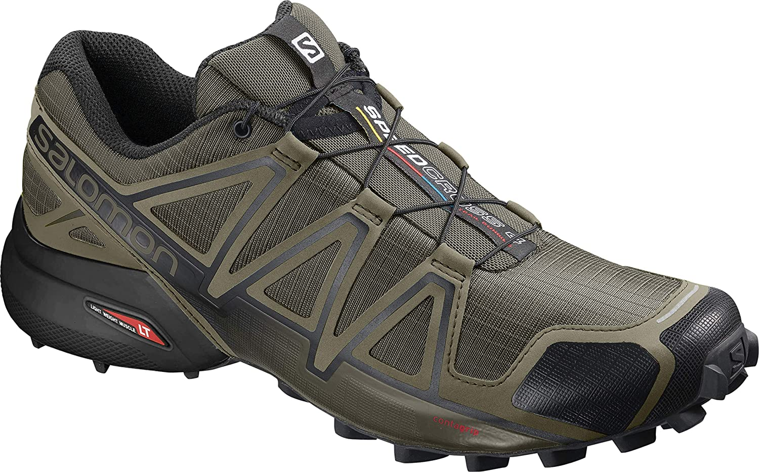Grape Leaf Burnt Olive Black SALOMON Men's Speedcross 4 Trail Running shoes
