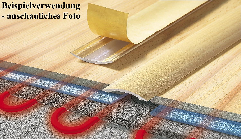 Schutzleiste 40 x 900 mm /Übergangsprofil /Übergangsschiene mit Laminat Buche CEZAR Aluminium-T/ürschwelle