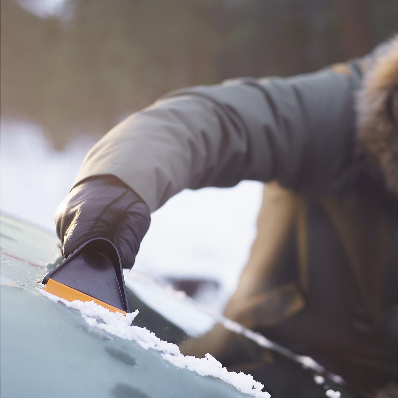 Aluminium 1000740 Fiskars Auto Snow Shovel Black//Silver Length: 71 cm