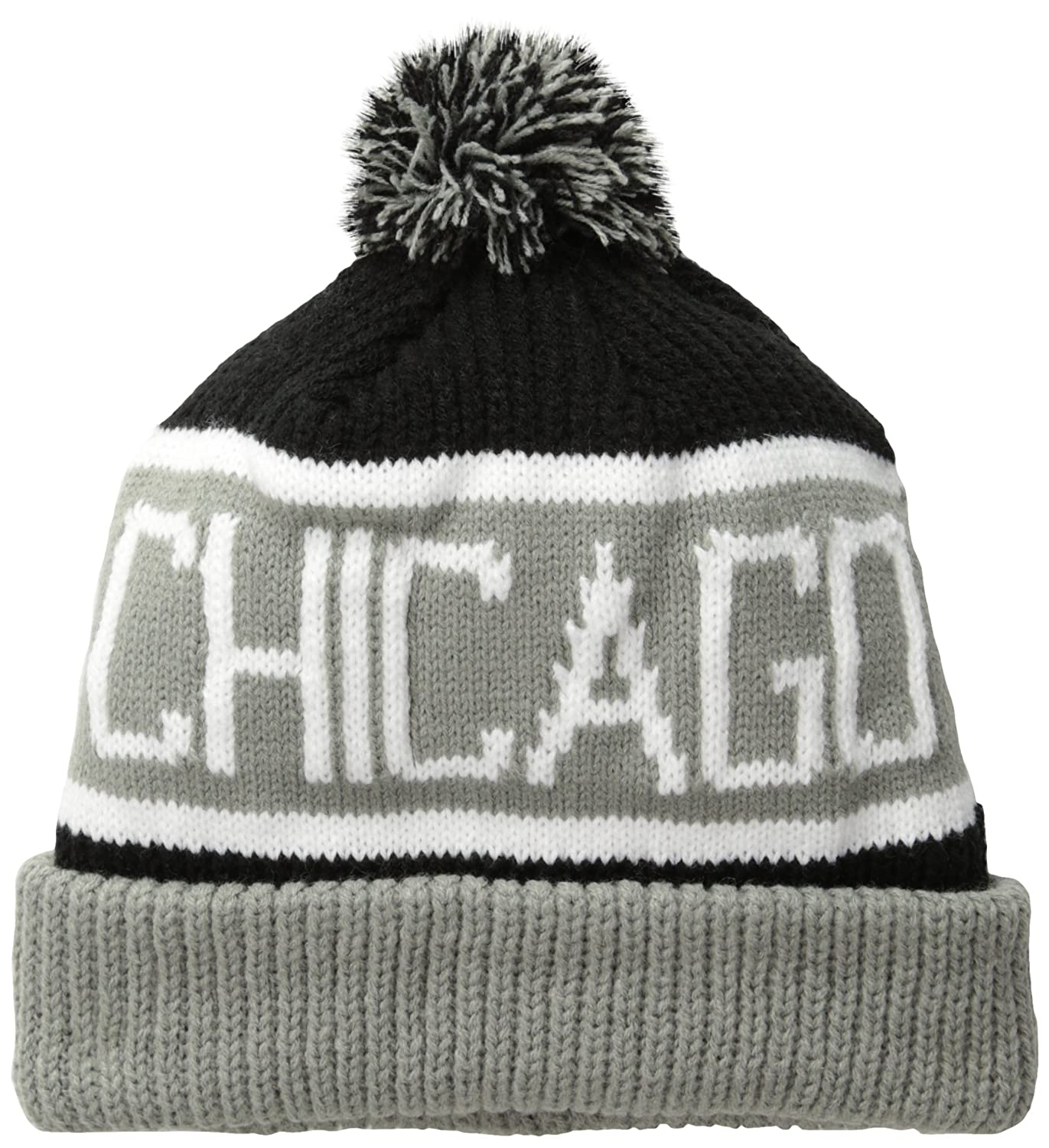 cec5891198bd5 Amazon.com   NBA Chicago Bulls  47 Brand Calgary Cuff Knit Hat with ...