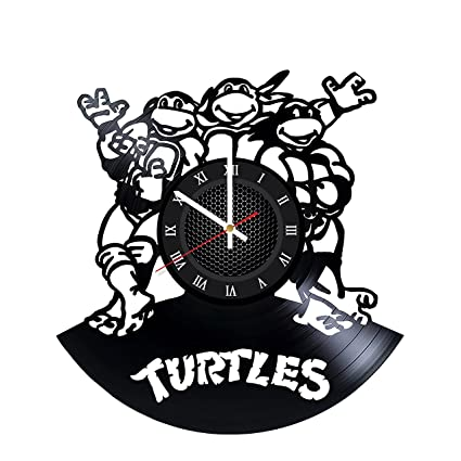 Amazon.com: Ninja Turtles Cartoon Vinyl Record Wall Clock ...