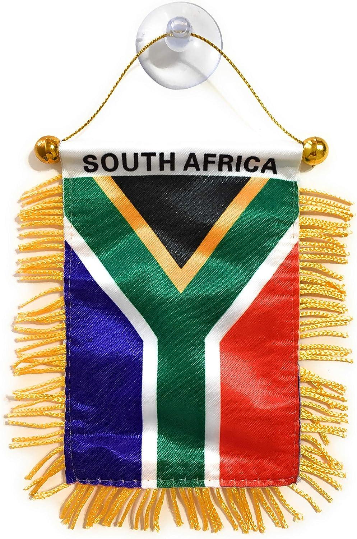 South Africa Interior Rear View Mirror Car Automobile Flag Banner