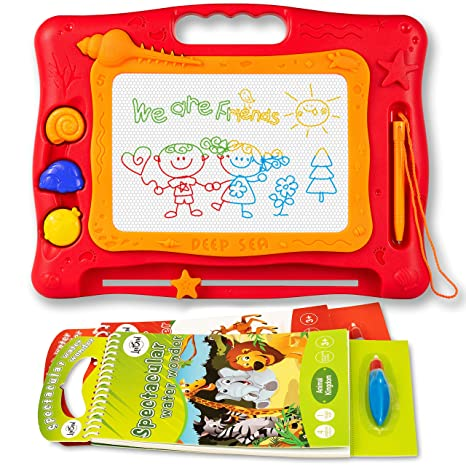 Amazon.com: Magnetic Magna Drawing Doodle Board – 2 Water Coloring ...
