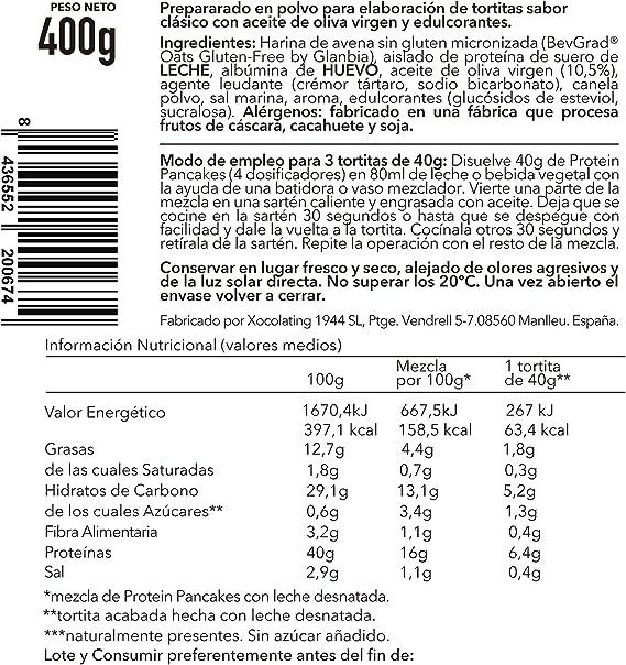Body Genius Smarter Nutrition Protein Pancakes Clásicos - 400 g