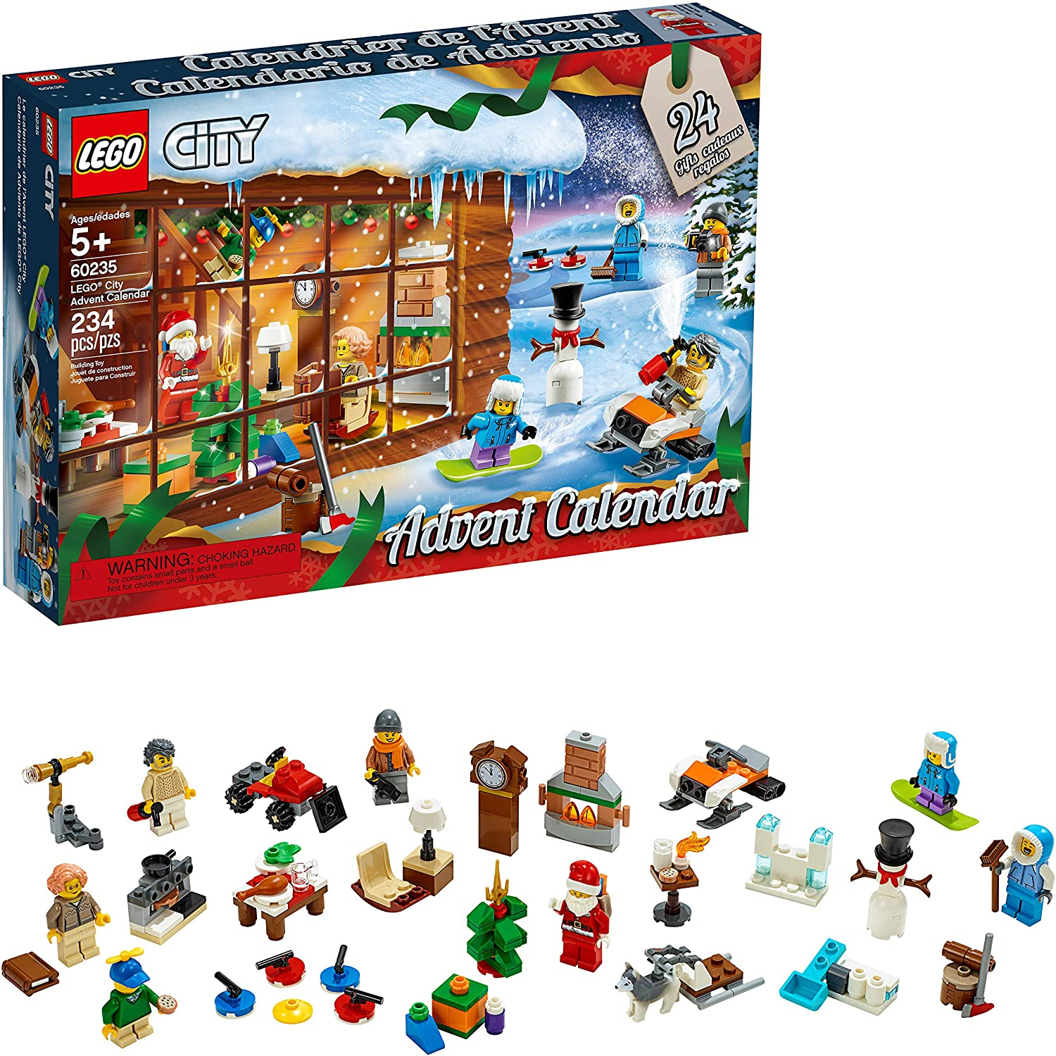 LEGO City Advent Calendar 60235 Building Kit (234 Pieces)
