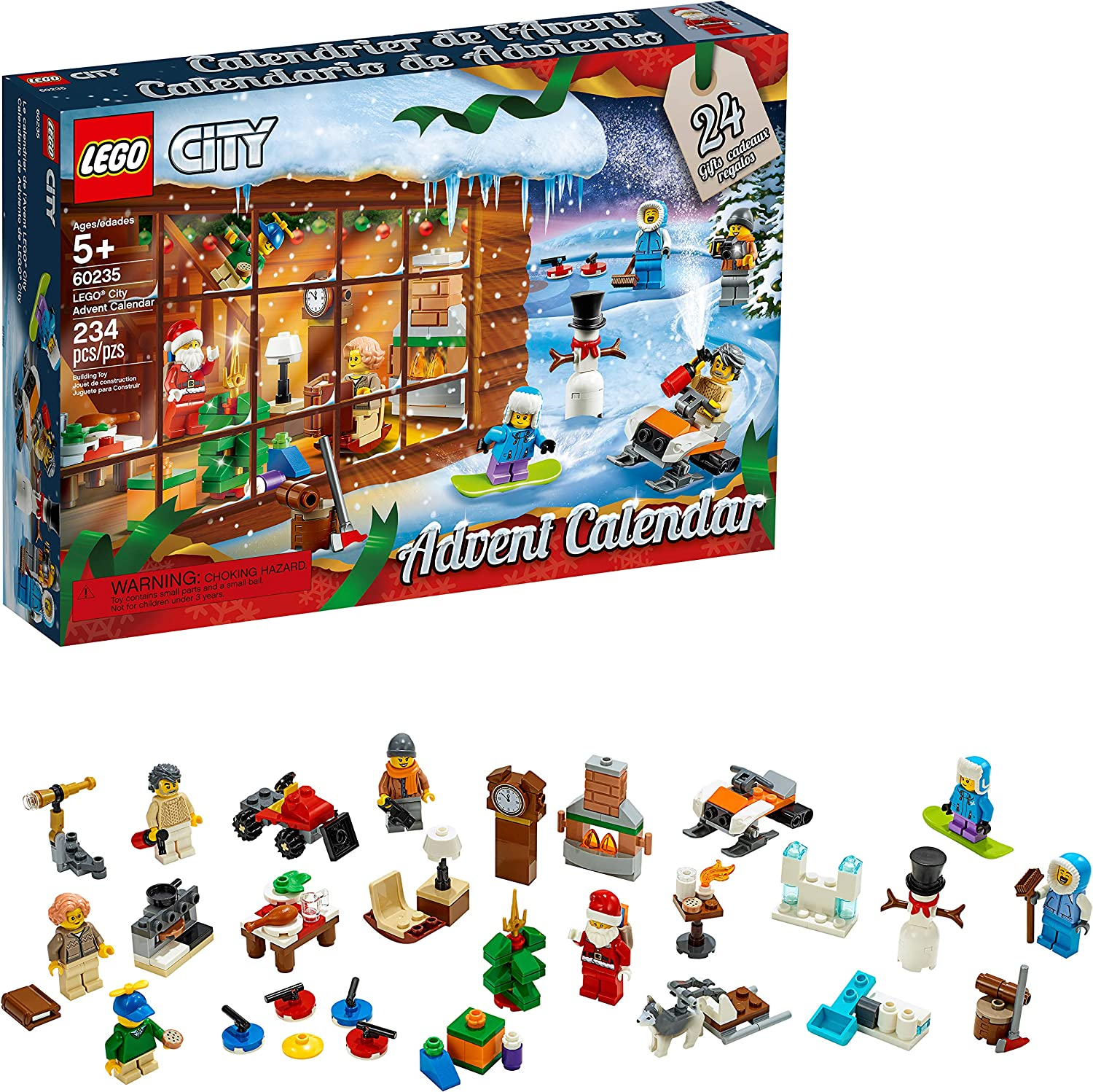 Amazon.com: LEGO City Advent Calendar 60235 Building Kit (234