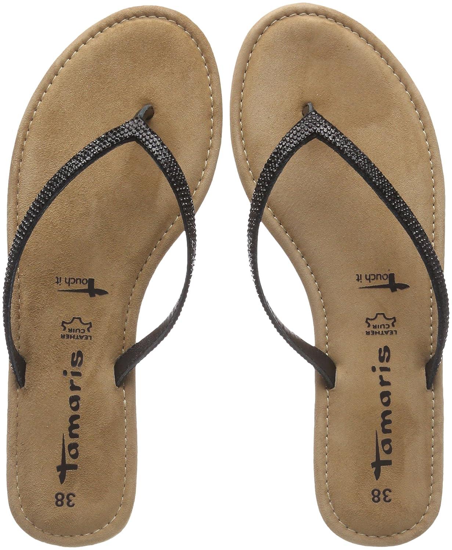 Tamaris Damen 27124 Pantoletten Schwarz (Black Glam) 2018 Letztes Modell  Mode Schuhe Billig Online-Verkauf