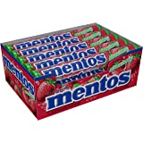 Mentos Strawberry Roll 1.32-Ounce Roll 15 Units, 0.56-Kilogram