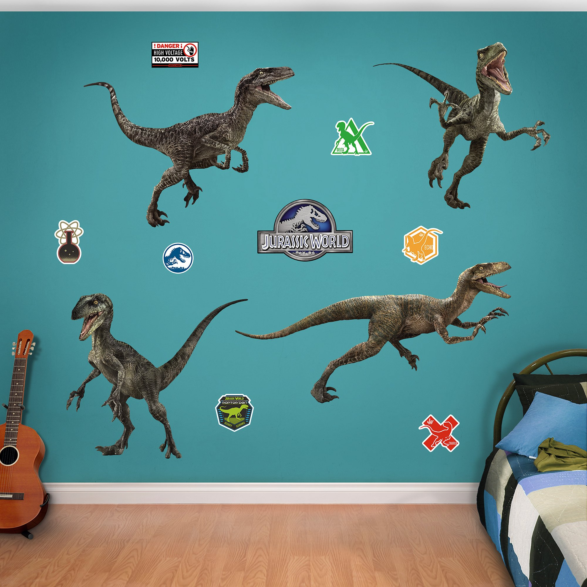 FATHEAD Raptor Collection: Jurassic World - X-Large Officially Licensed Removable Wall Decals