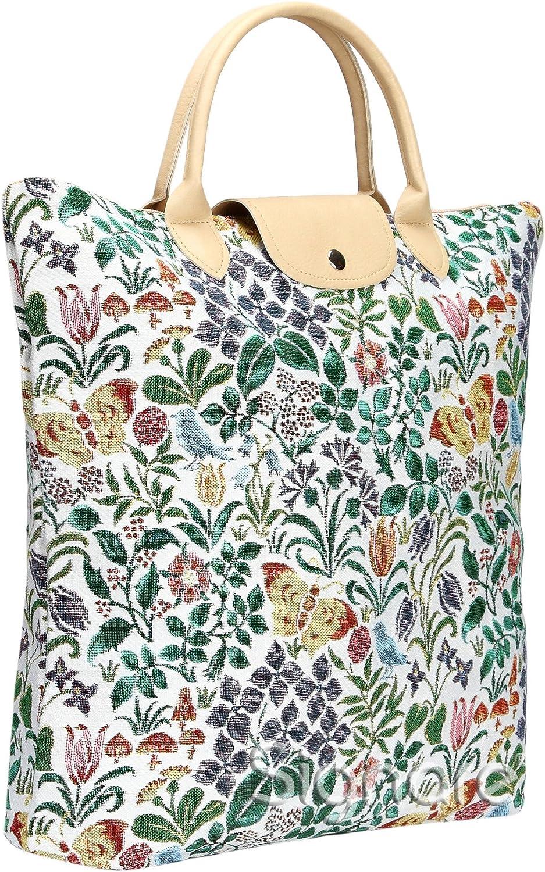 Signare Borsa Donna Tessuto Stile arazzo Pieghevoli Shopping alla Moda Paisley