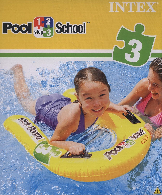 Intex Schwimmhilfe Kickboard Pool School Step 3, Gelb, 79 x 76 cm 58167EU