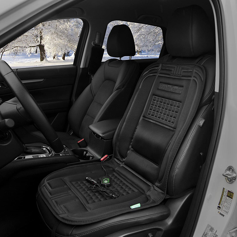 iHealthComfort 12V Car Heated Seat Cushion Cover Pad Black Sojoy Holding Ltd.