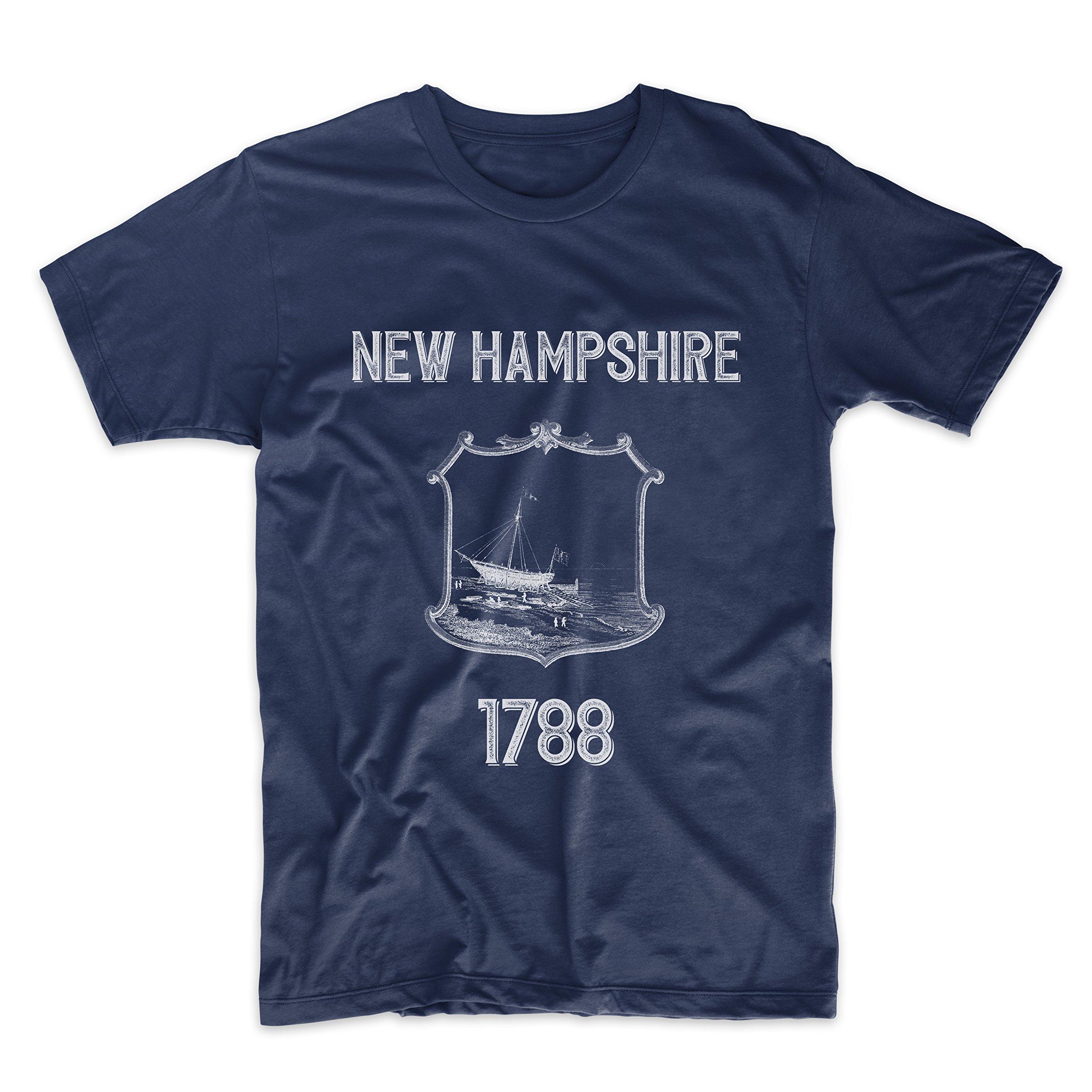 PatentPrints New Hampshire Coat of Arms T Shirt