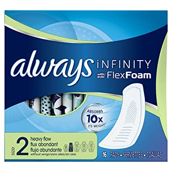 amazon com always infinity heavy flow without wings 16 ct health