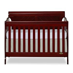 Dream On Me, Ashton Full Panel 5-in-1 Convertible Crib, Cherry