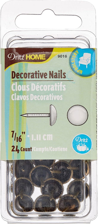lat/ón Envejecido Dritz Home Daisy Clavos Decorativos 24-Piece
