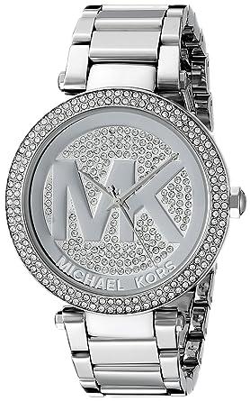 07ad2c79b284 Amazon.com  Michael Kors Women s Parker Silver-Tone Watch MK5925 ...