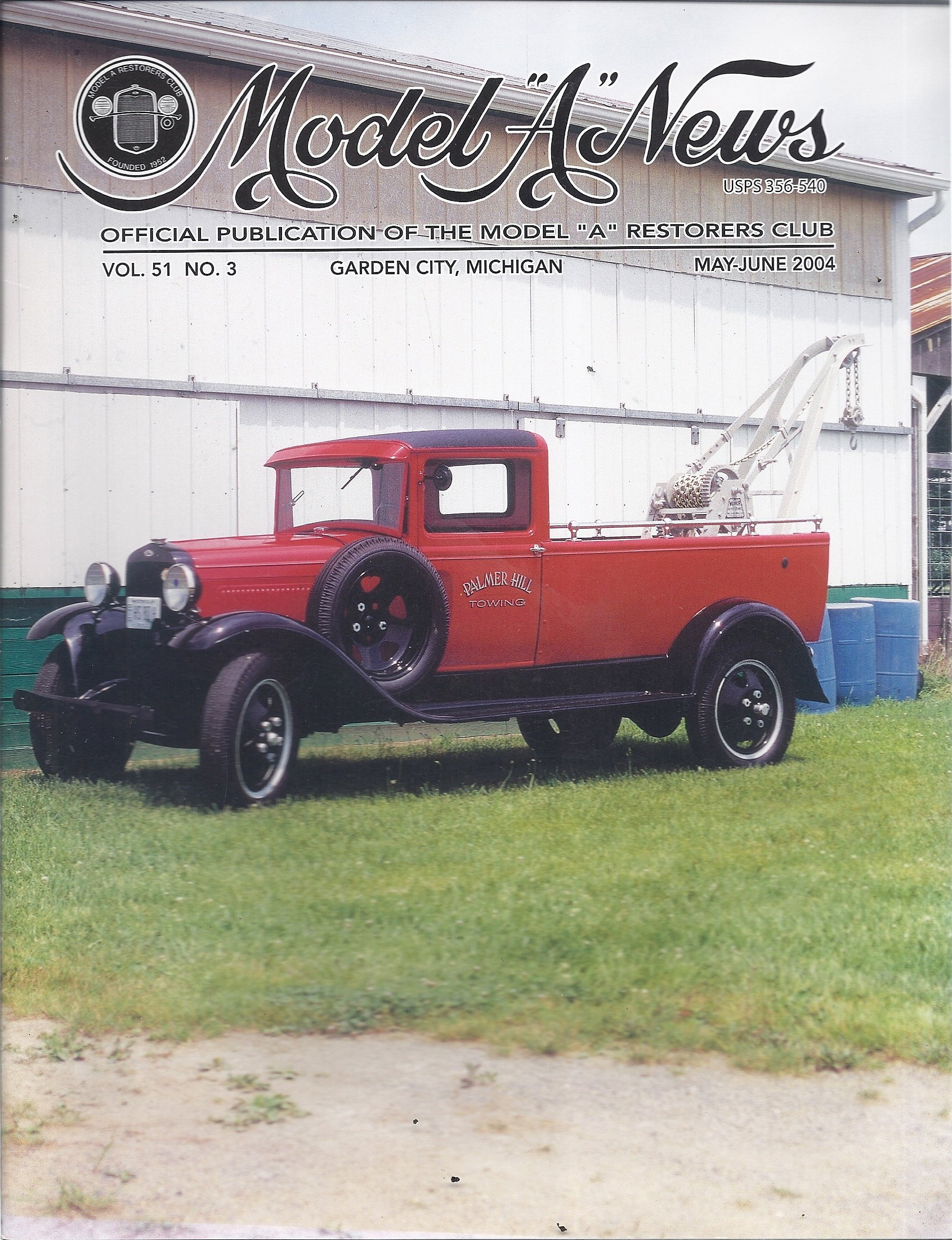 "Download Model ""A"" News (May/June 2004 - Cover:1931 Ford ""AA"" Service Car) pdf epub"