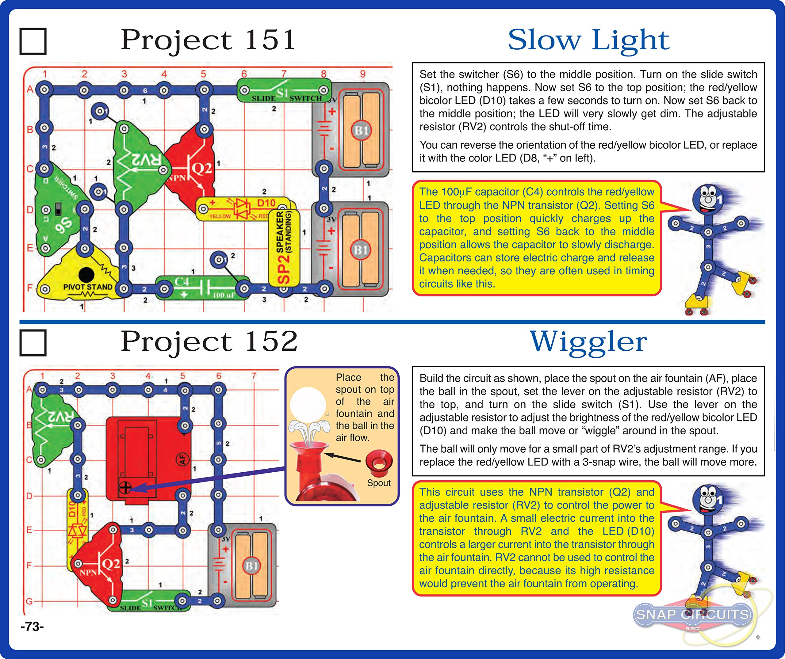 Snap Circuits Motion Electronics Exploration Kit | Over 165 Exciting STEM Projects | 4-Color Project Manual | 50+ Snap Modules | Unlimited Fun by Snap Circuits (Image #6)