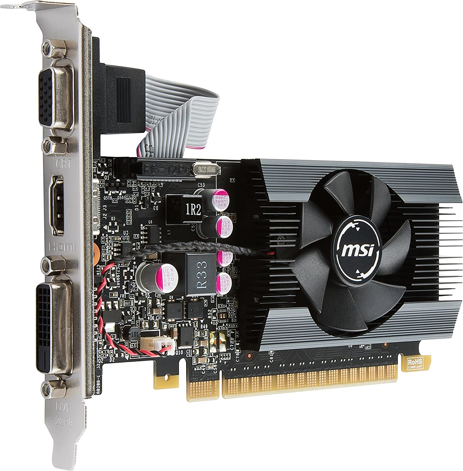 Amazon.com: MSI Gaming GeForce GT 710 2GB GDDR5 64-bit ...