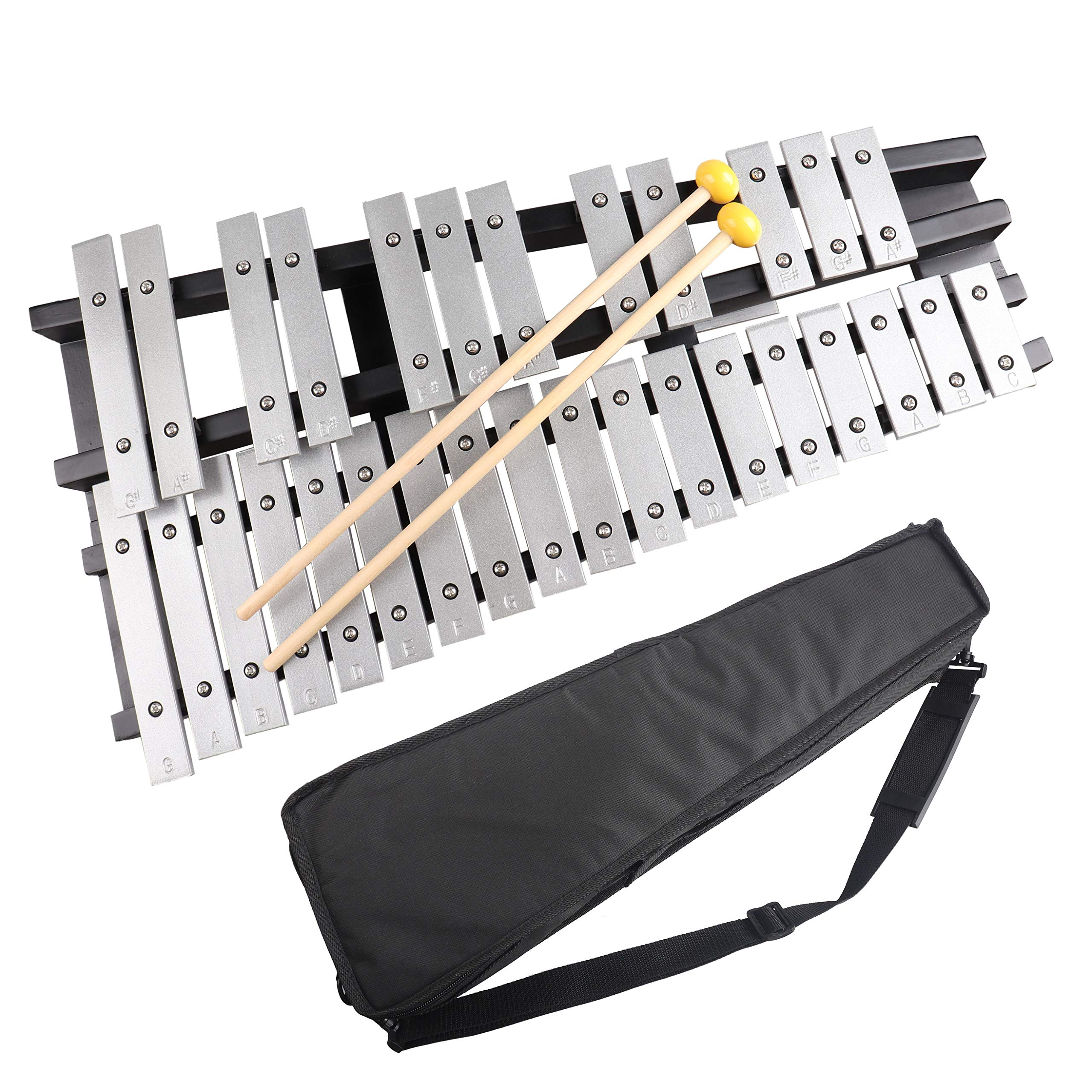 Mr.Power Foldable Glockenspiel Xylophone Vibraphone Percussion Instrument 30NOTES by Mr.Power