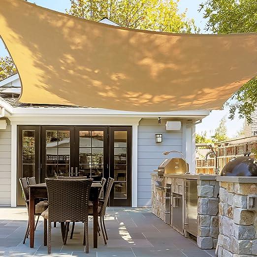 Asani toldo rectangular para sombra de sol | cubierta de patio con ...