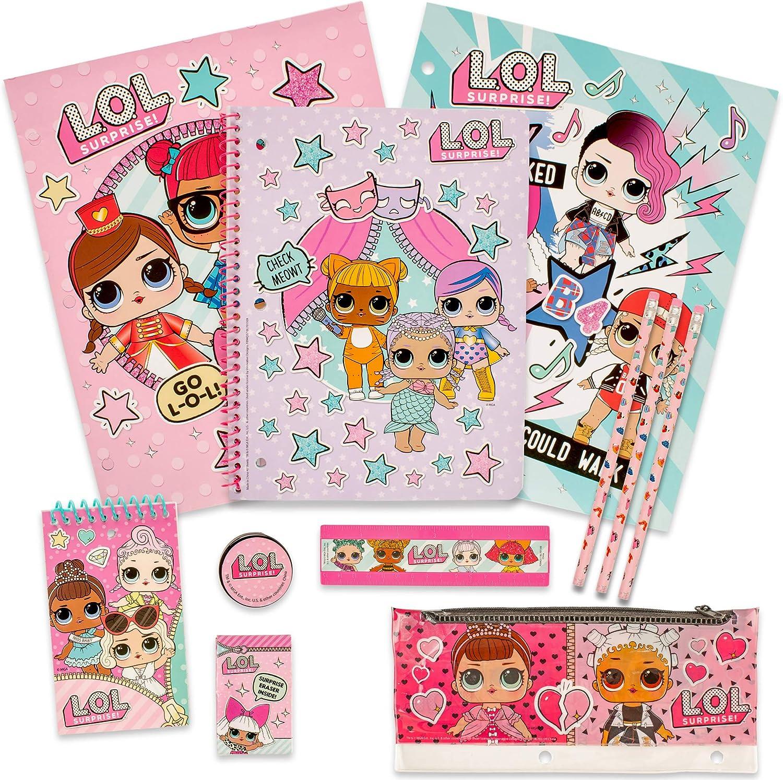 MGA Entertainment Juego de papelería LOL Surprise - Juego de Estuche de lápices para lápices para niñas: Amazon.es: Juguetes y juegos